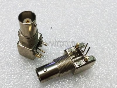 Đầu BNC Cái Hàn PCB 2Pin Vỏ Inox
