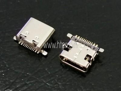 Cổng USB3.1 TypeC 16Pin DIP Đầu Cái 0.8MM