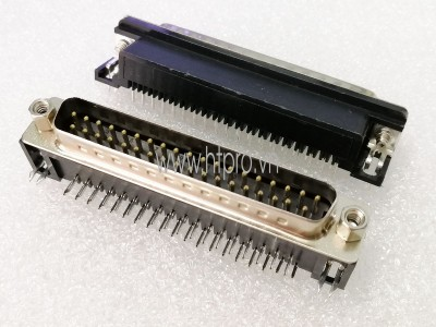 Connector DB37 Male Nằm Ngang Hàn PCB