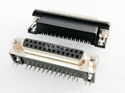 Connector DB25 Female Nằm Ngang Hàn PCB
