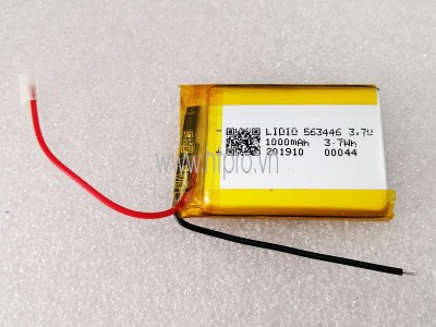 Pin Lithium 3.7V 1000mAh 563446