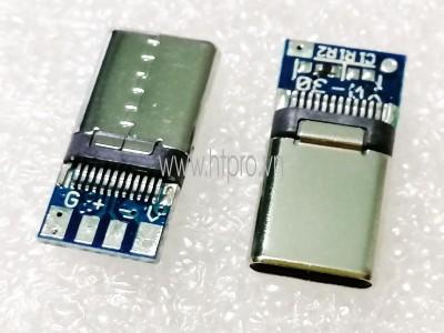PCB Ra Chân Cho USB 3.1 Type C 8Pin Male